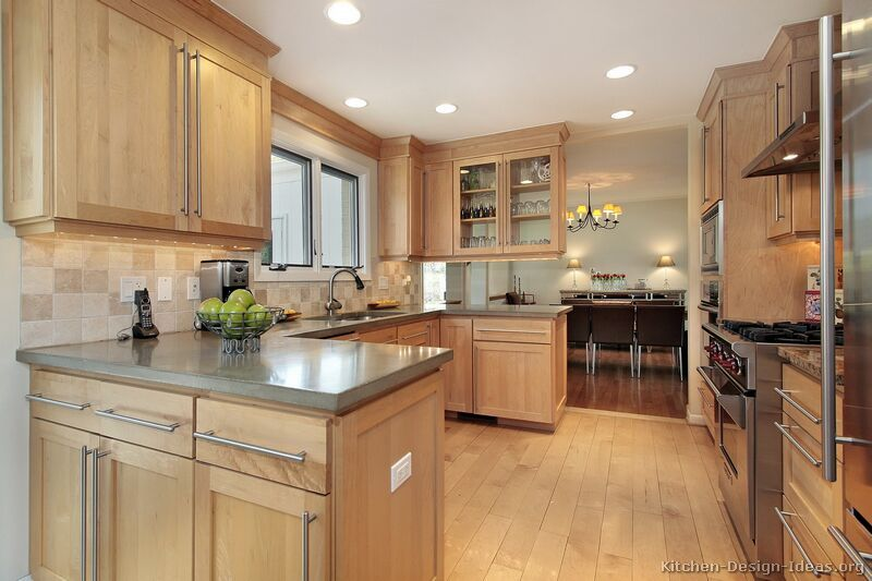 Traditional Light Wood Kitchen Cabinets #112 (Kitchen-Design-Ideas ...