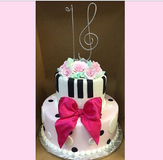 Sweet 16 Musical Cake Topper Sixteen Birthday By Allegroart Wired