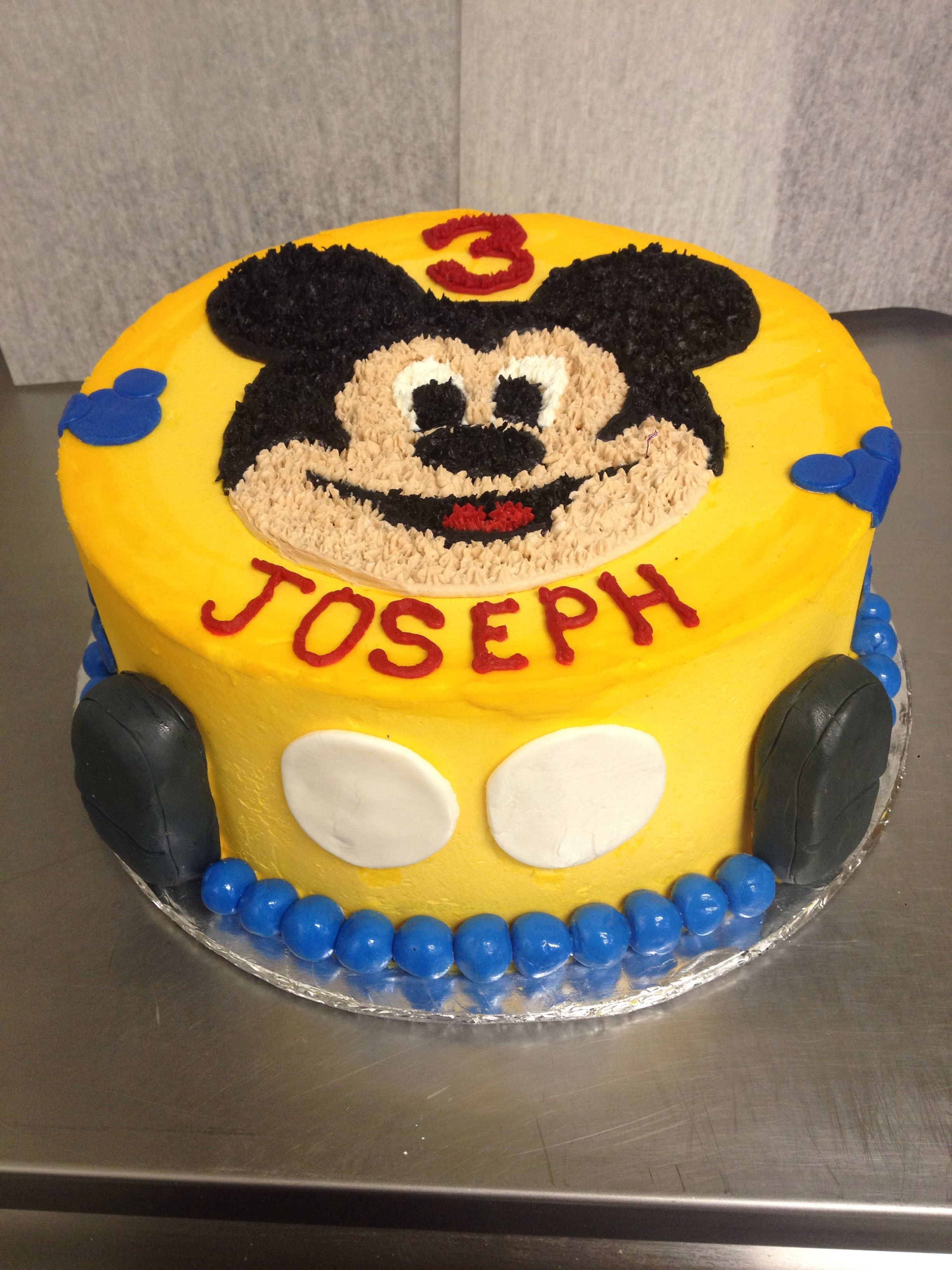 Outstanding Mickey Mouse Cake For A Boys 3Rd Birthday Cake Mickey Mouse Personalised Birthday Cards Beptaeletsinfo