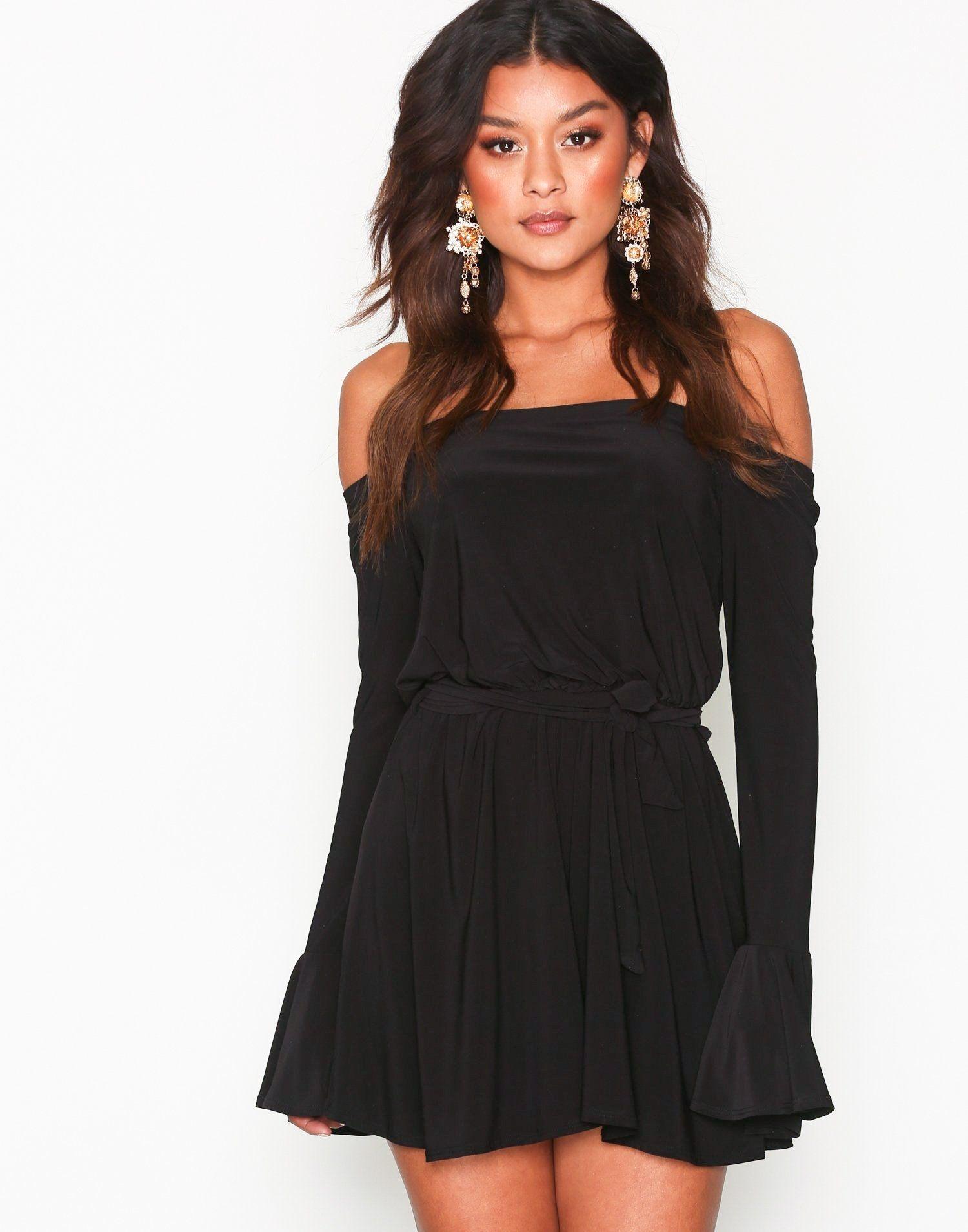 d5810c9d694 Off Shoulder Playsuit - Nly One - Black - Jumpsuits - Clothing - Women -  Nelly.com
