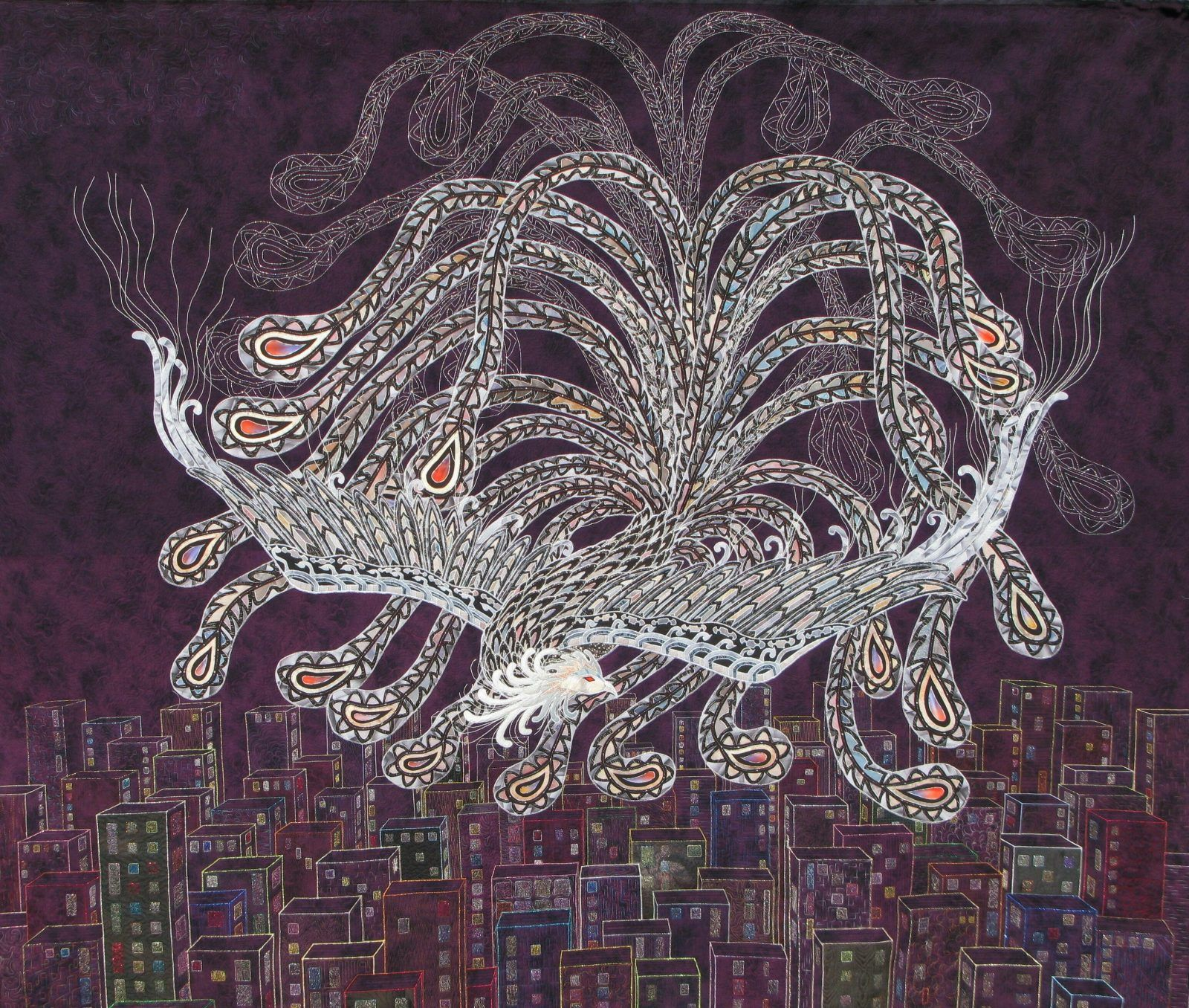お江戸日本橋キルト展2017「Phoenix フェニックス」 – Patchwork Quilt パッチワークミシンキルトNakazawa Felisa 中沢フェリーサ
