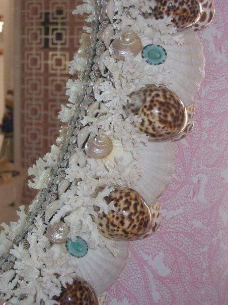 Shell mirror by Robin Grubman Grubm5@yahoo.com love the coral incorporated