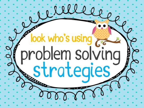 free math problem solving strategies posters - owl theme | iTeach ...