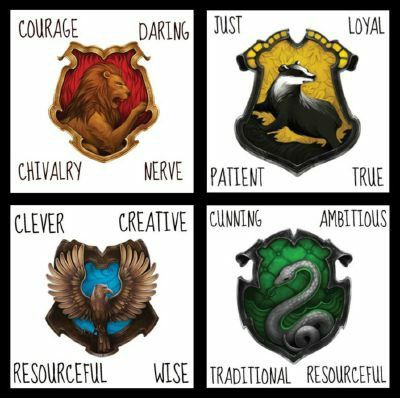 Harry Potter House Characteristics :) I Just Took A Quiz To See Which House  I Would Be In And I Got The Same Score In Gryffindor And Slytherin.