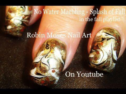 Nail Art Diy No Water Marble Nail Design Tutorial Fall Fail