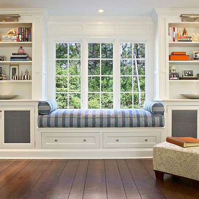 Built In Window Seat Design Ideas Pictures Remodel And Decor Window Seat Design Living Room New York Built In Bookcase