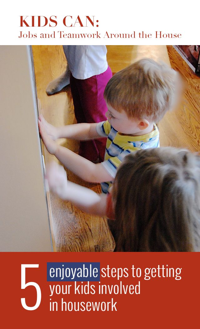 Get your kids involved in the process of cleaning and caring for your home! (Even includes ways to help them enjoy it)