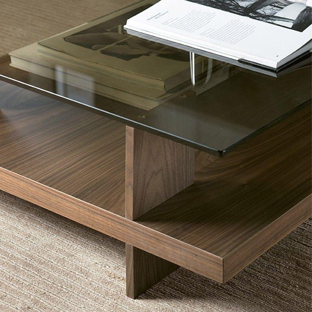 Pacini E Cellini Clo Coffee Table Square Nk Bronze Gl Top