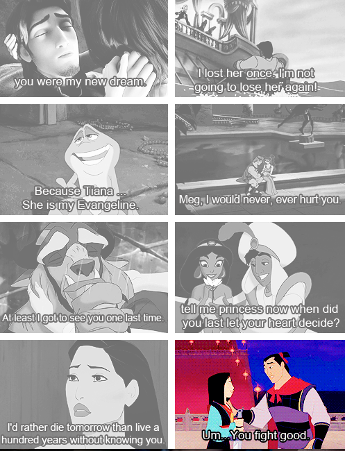 What we expect guys to say about us....what they actually say..Mulan-keepin' it real.