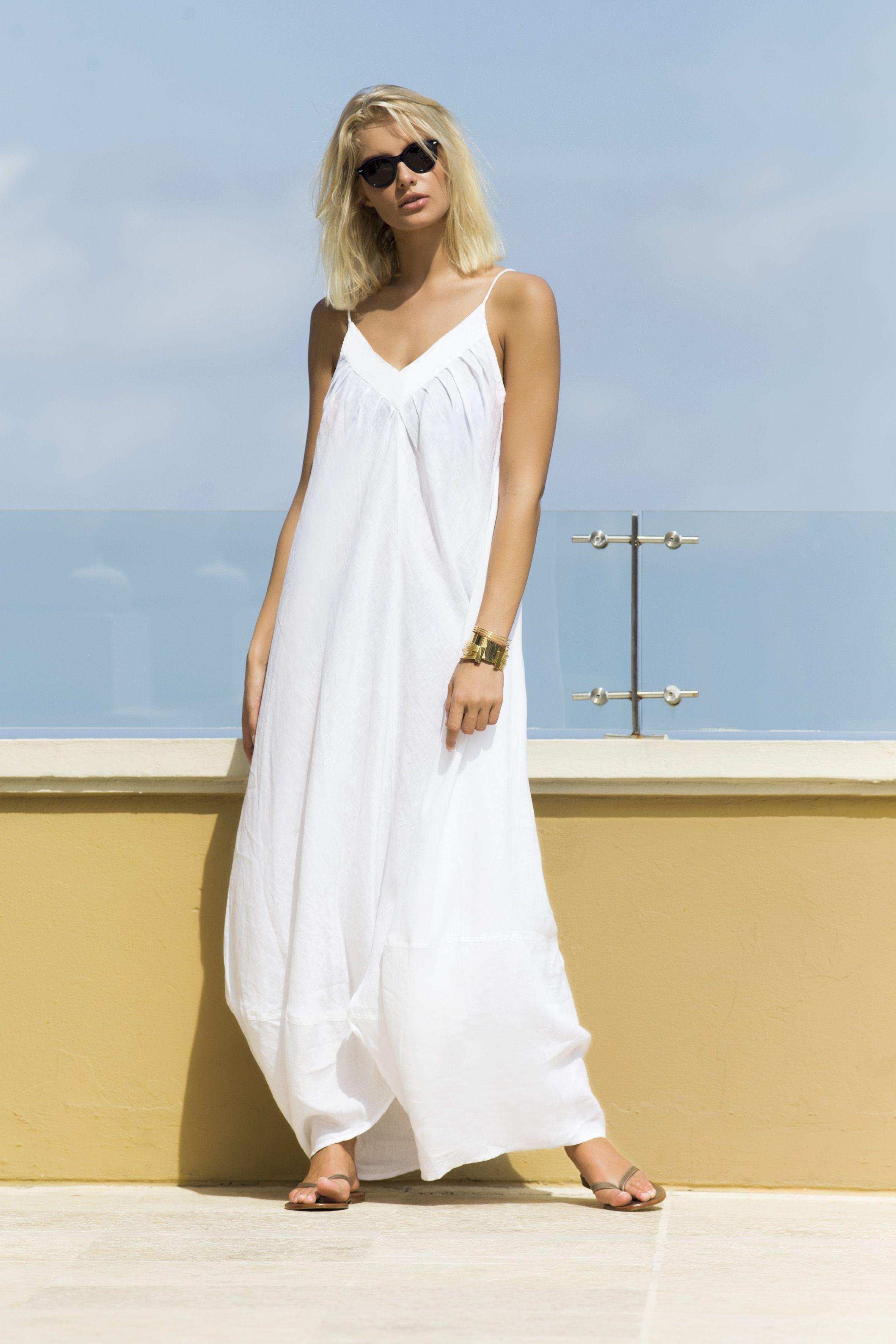 3acaf4f18f2b White Linen Maxi Dress / Shop Online at www.touche.com.co Touche ...