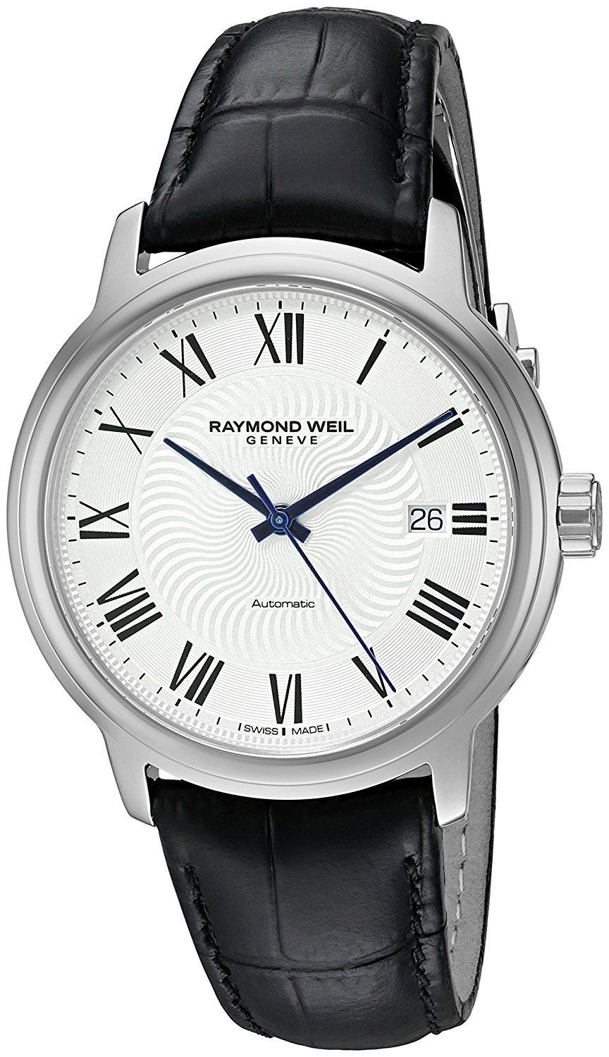 Raymond Weil Men S Maestro Swiss Stainless Steel And Leather Automatic Watch Color Black Model 2237 Stc 00659 Fashionwatches Luxurywatches Dexclusivewa