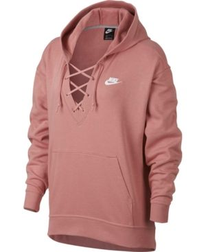 cc342c6afc1e Nike Sportswear French Terry Lace-Up Hoodie - Gray S in 2019 ...