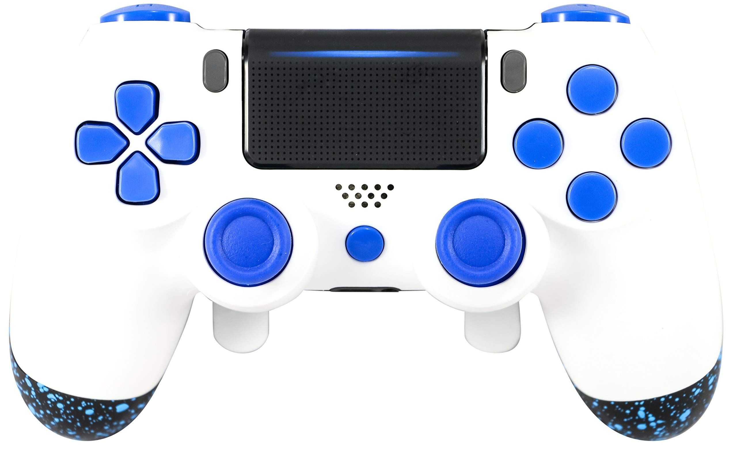 PS4 Elite Controller Soft Touch White/Blue Custom with