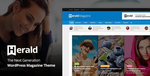 Herald - News Portal & Magazine WordPress Theme | Pinterest