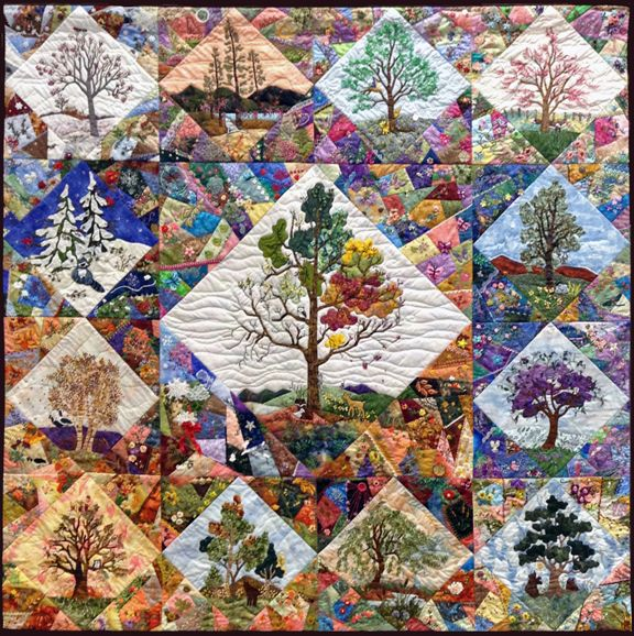 Raffle Quilt From The Oroville Piecemakers On Barbara Brackmans