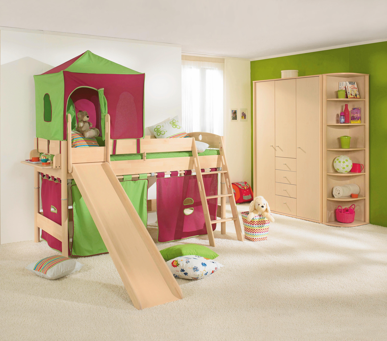 Spielbett Birke Massiv 90200 Cm Birkefarben Bett