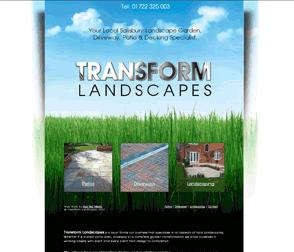 Web Design In Salisbury For Transform Landscapes Web Design Design Case Design