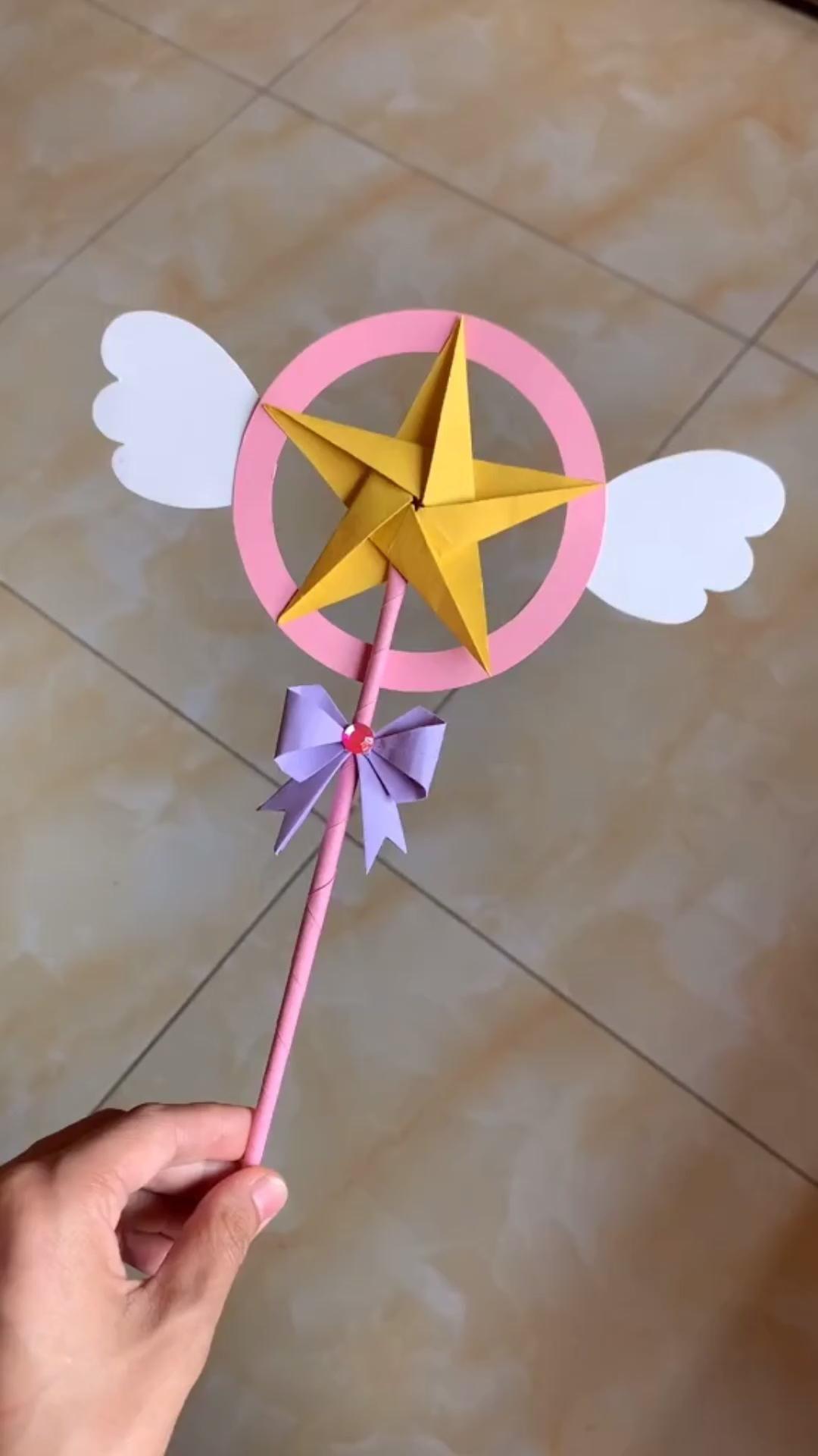 Photo of DIY Star Flying Fairy Stick Origami Tutorial
