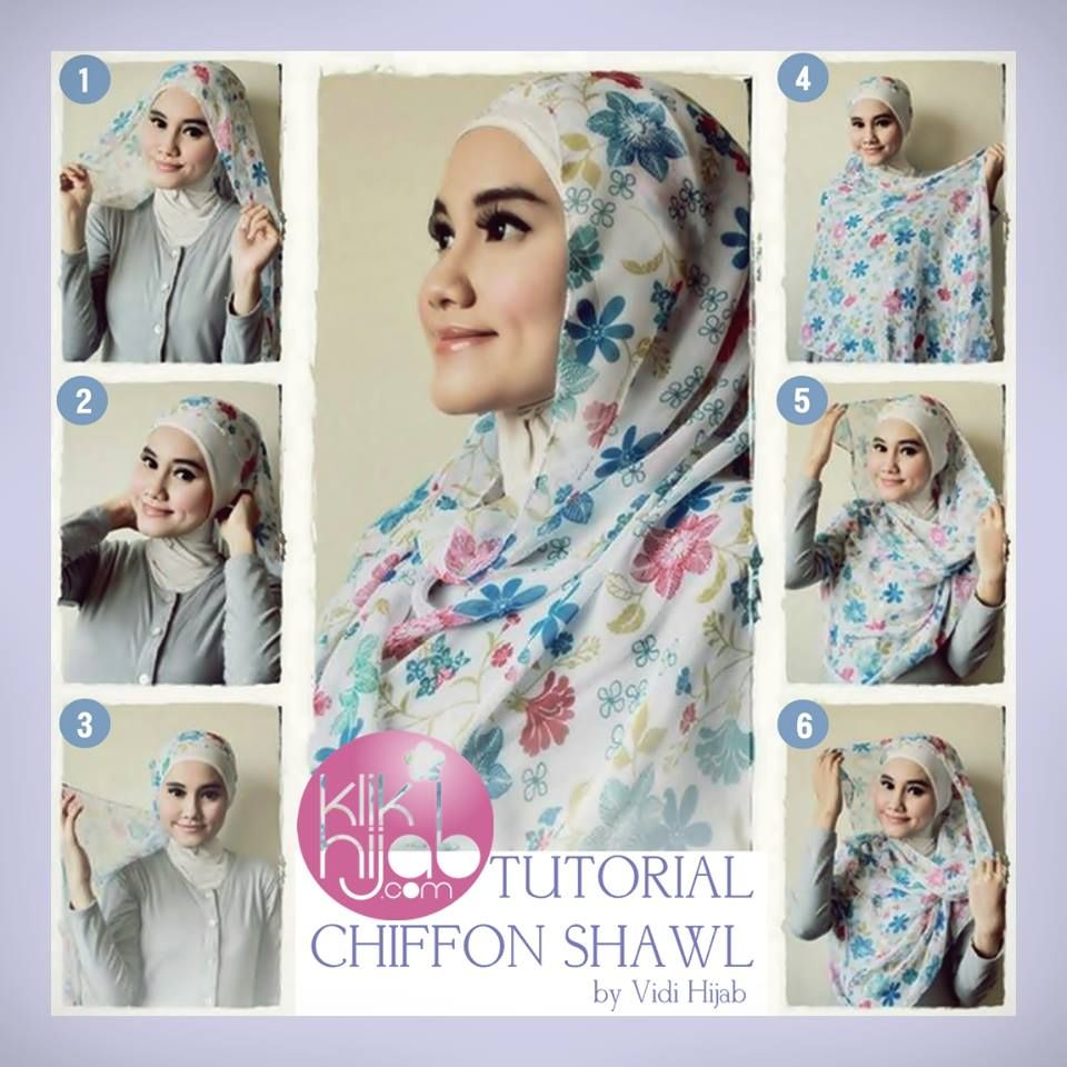Tutorial Hijab Segi Empat Tanpa Ciput Gunakan Shawl Dg Bagian Kanan Tiara Hijabers Styles
