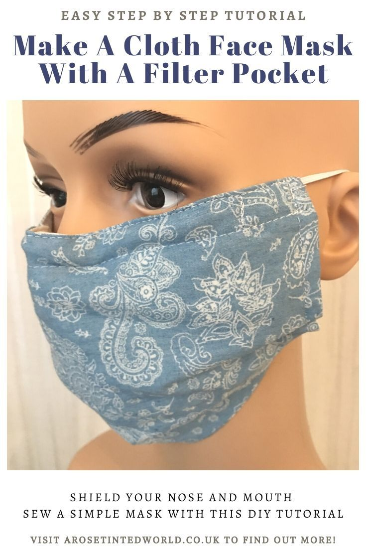 How To Sew A Face Mask (With A Filter Pocket) & wire nose