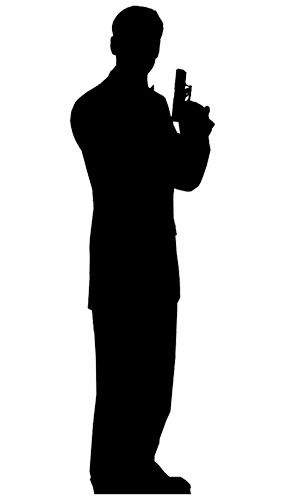 secret agent man lifesize standee cardboard cutout sold single approx size 59 feet tall