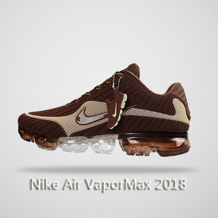 3cefdb575a5d Nike Air Vapormax 2018 Men Running Shoes Brown Beige
