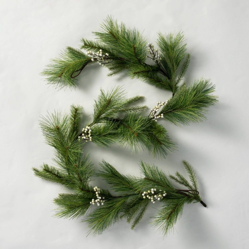 6 Faux White Berry Pine Garland Hearth Hand With Magnolia Pine Garland Christmas Garland Staircase Hearth Hand With Magnolia
