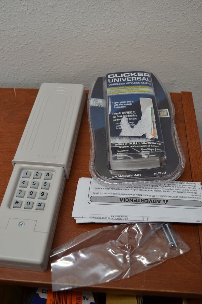 Chamberlain Klik2u Clicker Garage Door Gate Wireless Keyless Universal Entry Garage Doors Keyless Universal