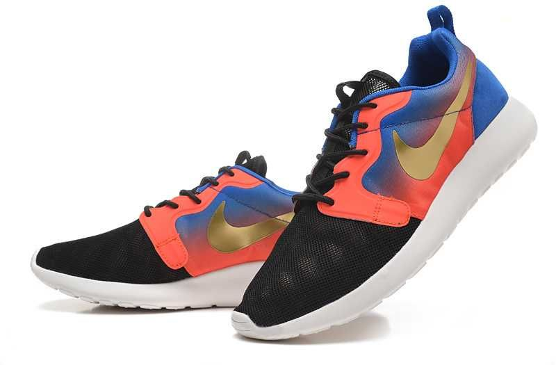 Hot Sale 2015 Nike Wmns Roshe Run Hyperfuse Premium In Black Metallic Gold  Hyper Punch Mens Running Shoes Sneaker,Nike Roshe Run Shoes