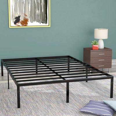 Alwyn Home Classic Metal Platform Bed Frame Size King Platform