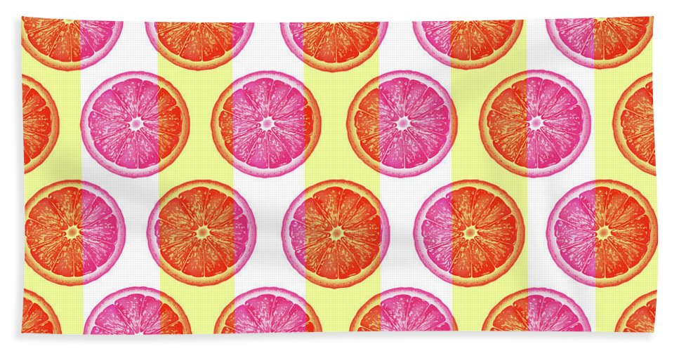 Grapefruit Slice Pattern 1 - Tropical Pattern - Tropical Print - Lemon - Orange - Fruit - Tangerine Beach Towel for Sale by Studio Grafiikka #tropicalpattern