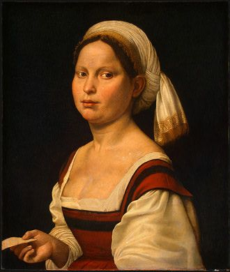 Portrait of a Young Woman, Giuliana Bugiardini, 1525. This! This is the headwrap I want.