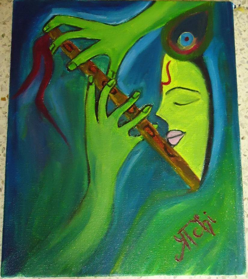 Krishna - Painting by Prachi Mathur at touchtalent 8051