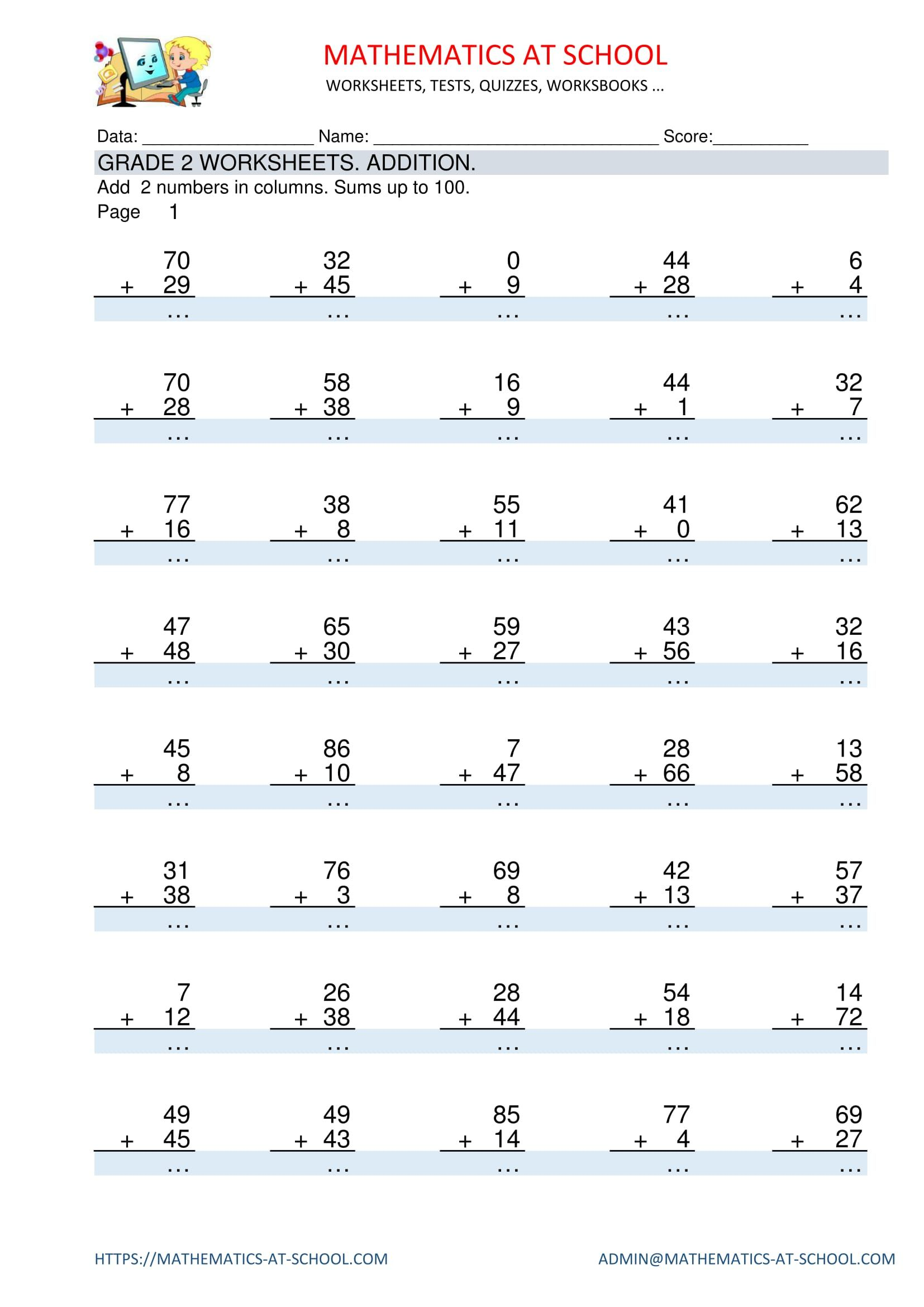 8 Grade 2 maths worksheets and free download printable pdf sheets ideas    math worksheet [ 2339 x 1654 Pixel ]