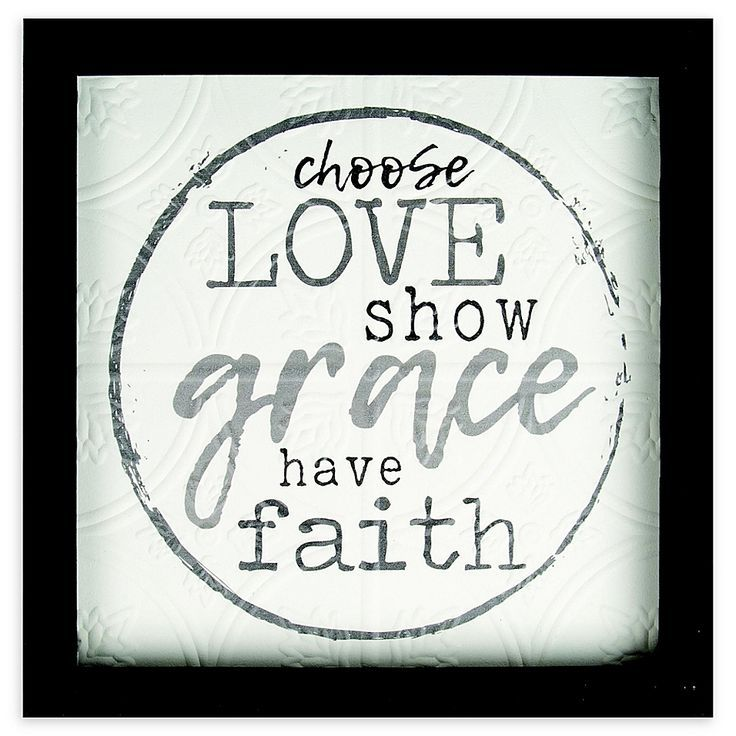 Choose Love Show Grace Have Faith 12 38 Inch Wood Wall Art Bed Bath Beyond How To Show Love Choose Love Grace Quotes