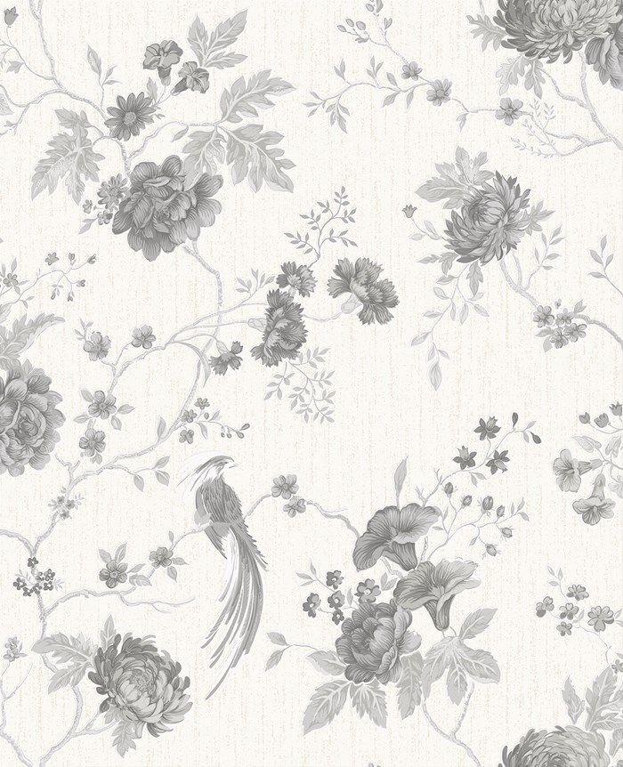 Exotica White / Silver Graham and Brown Papier peint