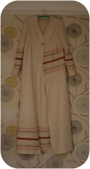 dressing gown, made from an old wool blanket using a vintage pattern ...