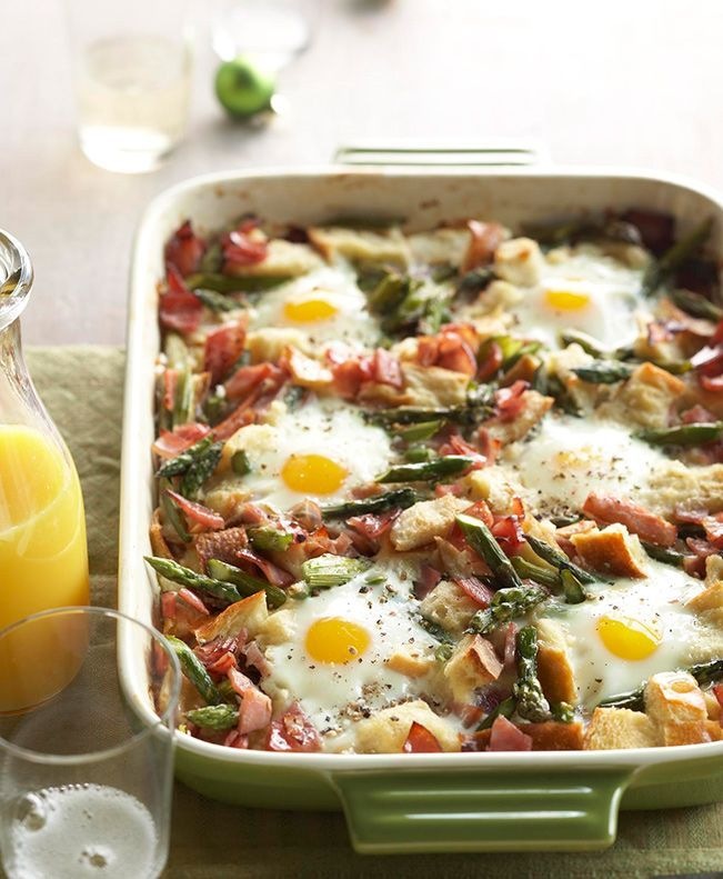 Bake this yummy Ham-Asparagus Strata for your next brunch get-together! - Traditional Home ®