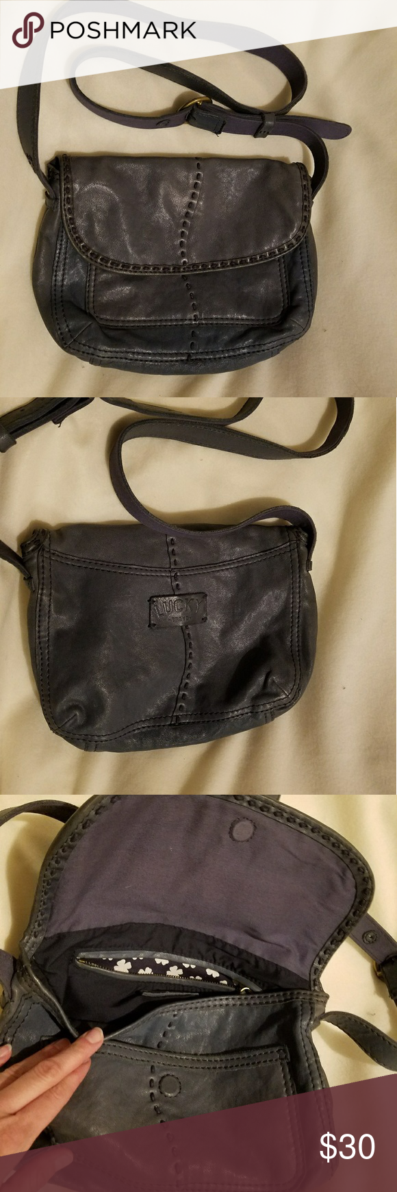 Lucky Brand Crossbody This is made of Italian lambskins. It's very soft and supple with no signs of wear. It has been treated with a leather conditioner recently also. Lucky Brand Bags Crossbody Bags