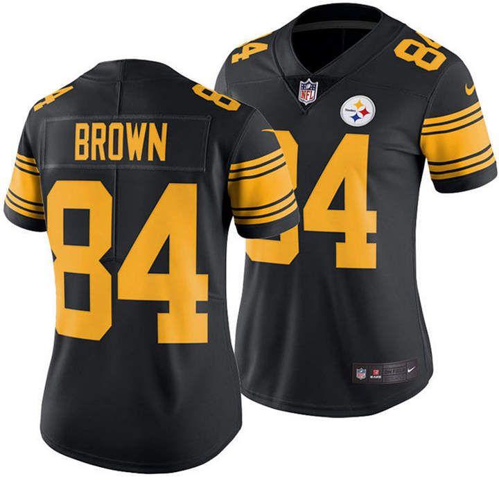 separation shoes 4c175 09b03 Nike Women Antonio Brown Pittsburgh Steelers Color Rush ...