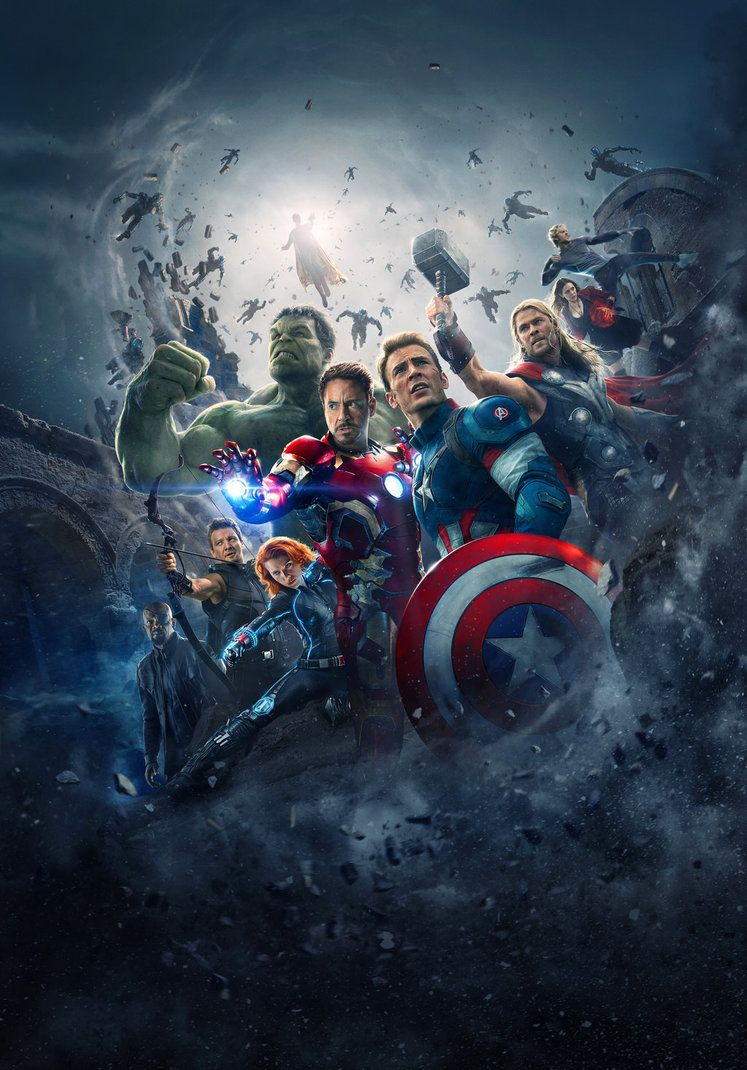 Avengers Age Of Ultron Hi Res Textless Poster By Phetvanburton On
