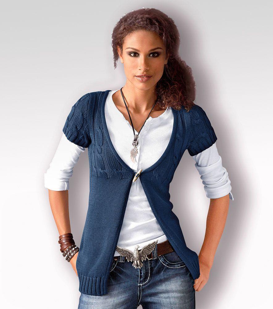 Chaqueta mujer manga corta punto tricot moda mujer 27 - Venca catalogo hogar ...