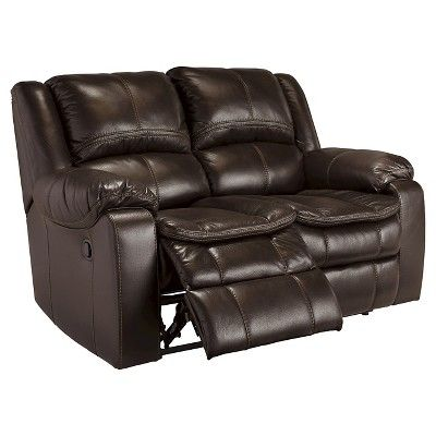 Long Knight Reclining Power Loveseat - Brown - Signature Design by Ashley
