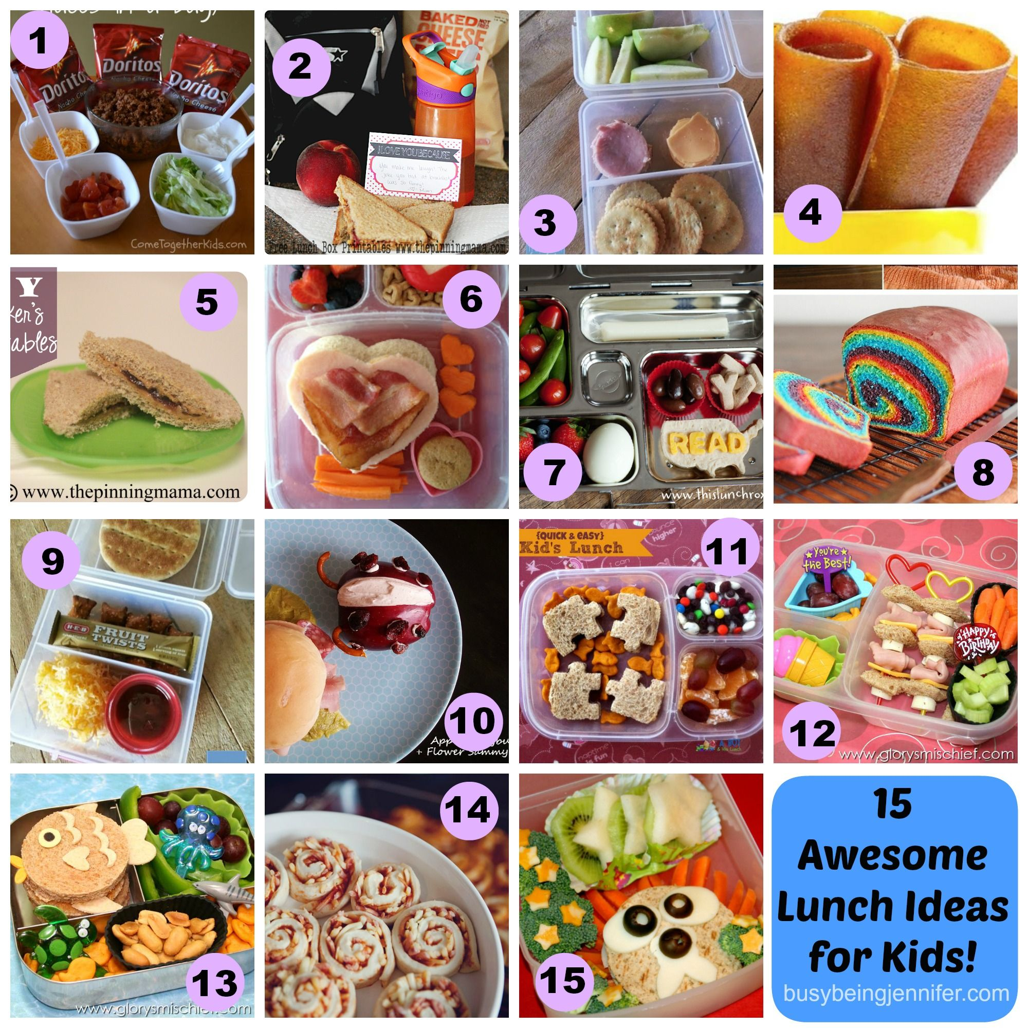 15 Awesome Lunch Ideas For Kids Busybeingjennifer