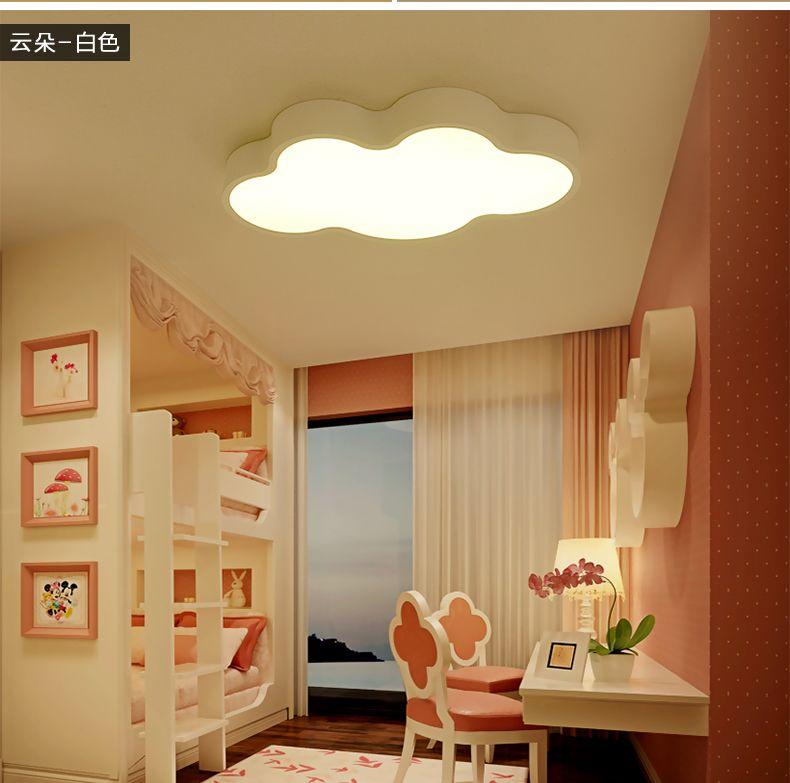 nuage blanc enfants chambre lumi res trois lumi res couleur de bande dessin e moderne led. Black Bedroom Furniture Sets. Home Design Ideas