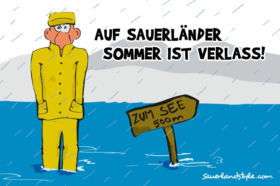 Auf Sauerländer Sommer Ist Verlass Lustiges Weisheiten Und