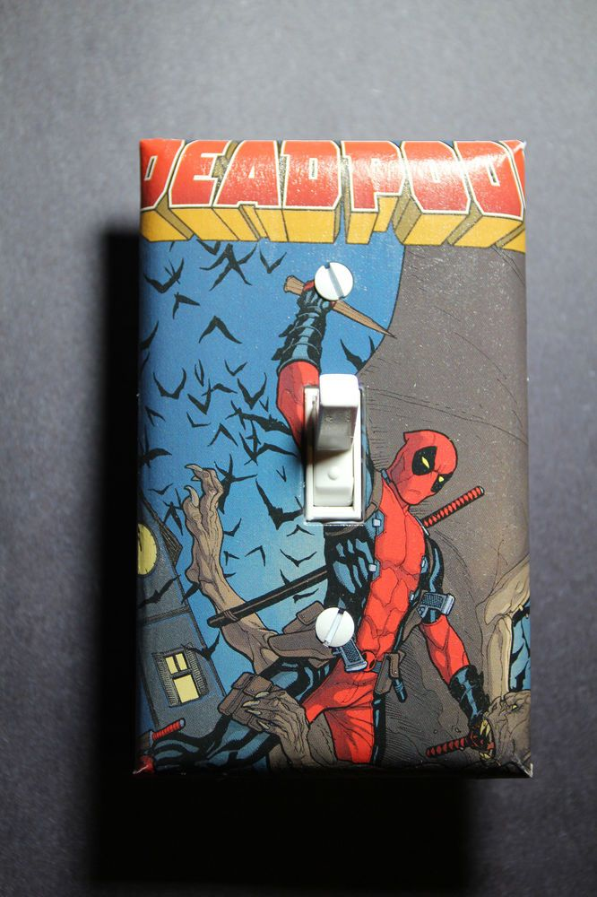 Deadpool Light Switch Cover Plate DC comic book Superhero home ...