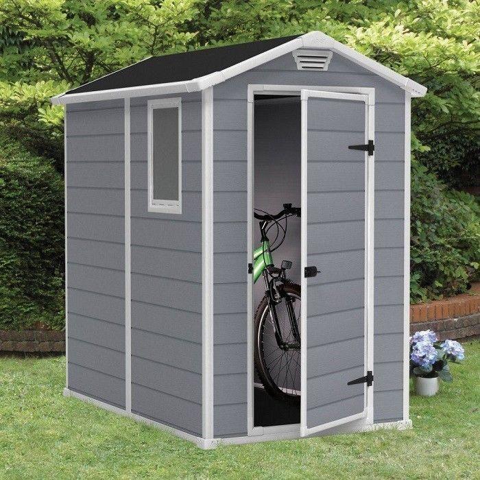 Large Storage Shed Outdoor Backyard Garden 4x6 Ft Resin Garage Barn Bike Sheds Plastic Storage Sheds Plastic Outdoor Storage Storage Shed