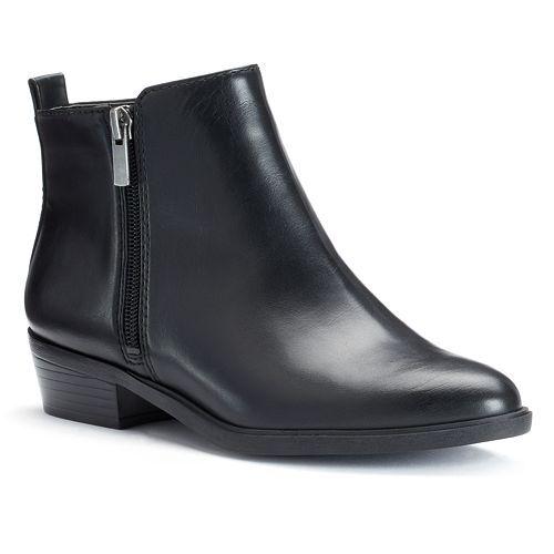a72e7679f8107 Chaps Sabra Women's Zipper Ankle Boots @ Kohl's in BLACK Size 8 $40
