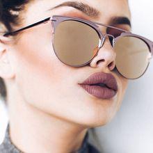 f8827d1b788875 Luxe Vintage Ronde lunettes de Soleil Femmes Marque Designer 2018 Cat Eye  lunettes de Soleil Lunettes de Soleil Pour Femmes Femelle Dames de Lunettes  De ...